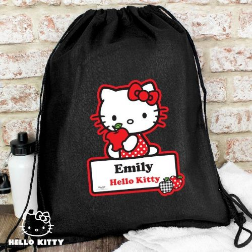 Personalised Hello Kitty Red Apple Swim Bag